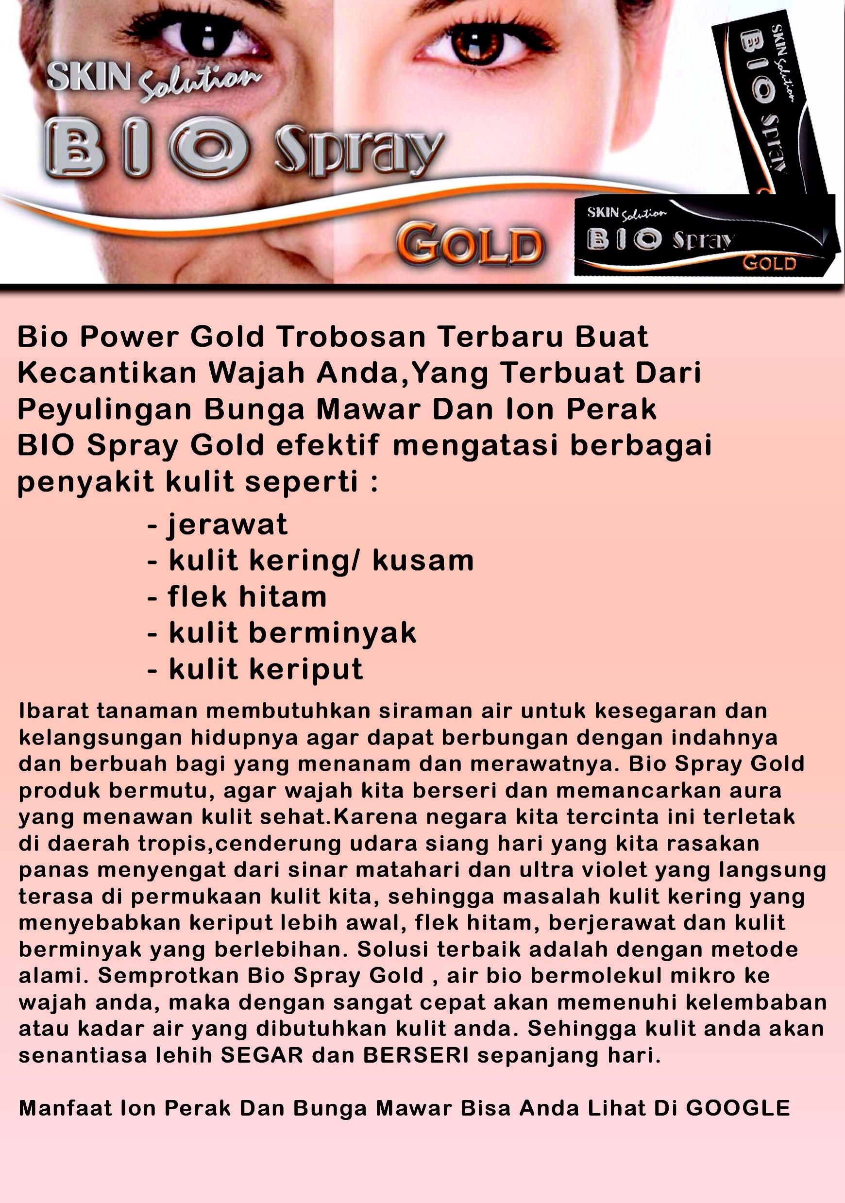 Produk Bio Spray Gold Msi Biospray Makassar